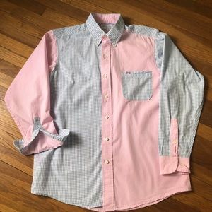 Fraternity Collection preppy pink and blue shirt